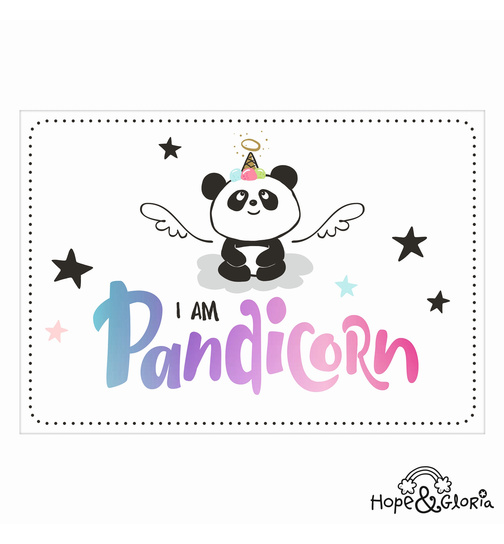 Postkarte Hope & Gloria 1 - I am Pandicorn