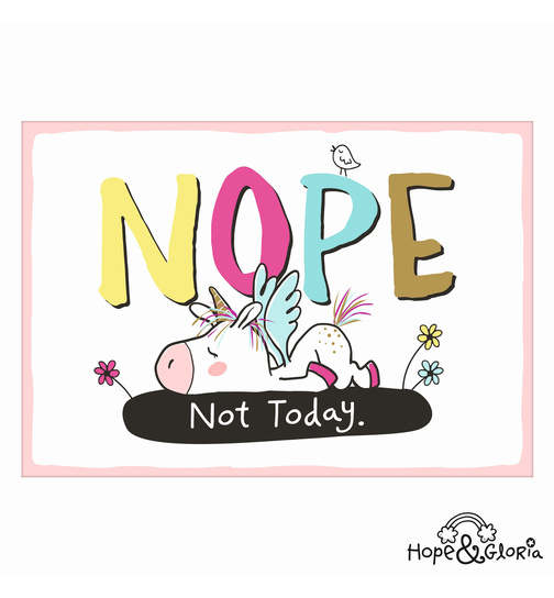 Postkarte Hope & Gloria 3 - Nope - Not Today