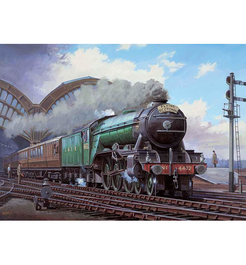 The Flying Scotsman - Eisenbahn - Puzzle 1000 Teile