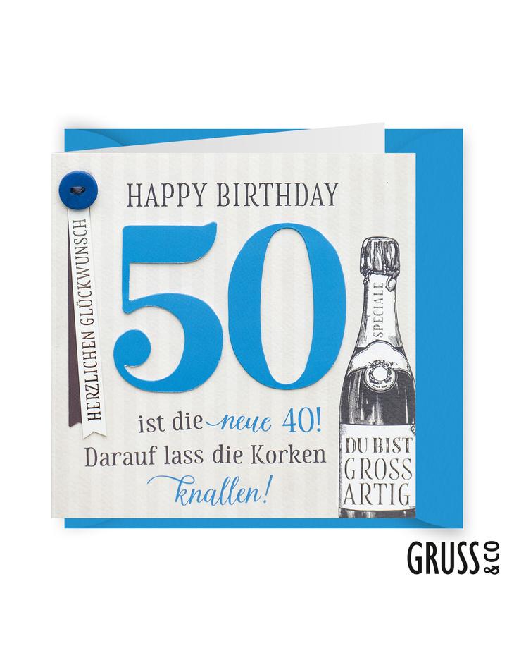 Knopfkarte 25 happy birthday 50 geburtstagskarte dog d - Geburtstagskarte 25 geburtstag ...