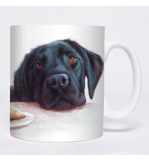 Watercolour Black Labrador - Mug - Becher - Chopes