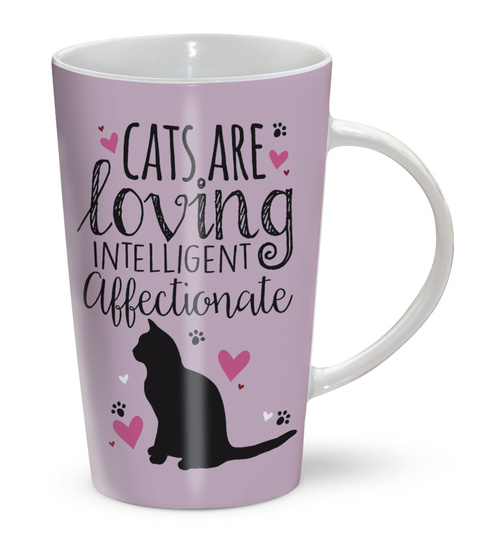 Cats are loving intelligent affectionate - Latte Mug