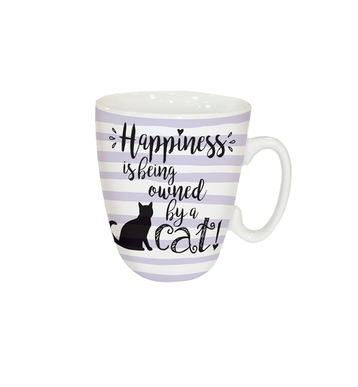 Happiness is cat - Kaffeebecher - Standard Mug