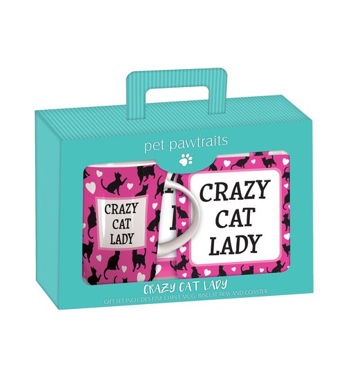 Crazy Cat Lady - Tee Set - Tea Time Geschenkset
