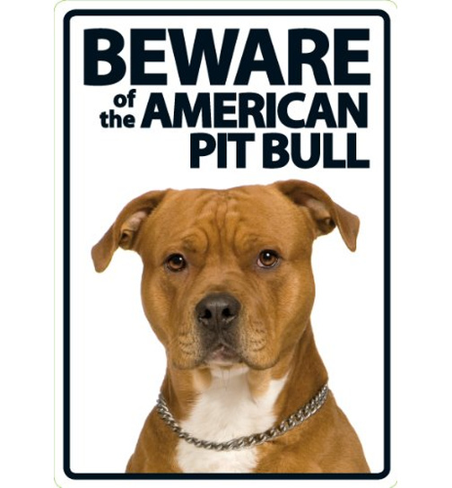 Beware of the American Pit - Portrait - Magnet & Steel