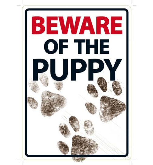 Beware of the Puppy - A5 - Magnet & Steel