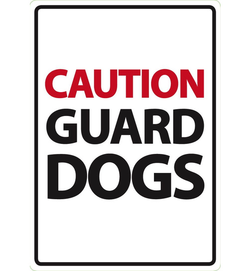 Caution Guard Dogs  - Flexi A5 - Magnet & Steel