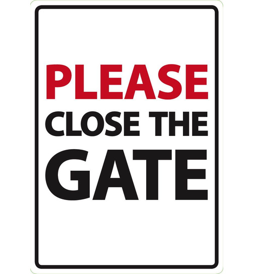 Please Close The Gate - A5 - Magnet & Steel