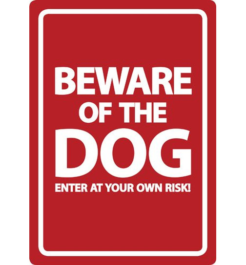 Beware of the Dog - red - Flexi A5 - Magnet & Steel