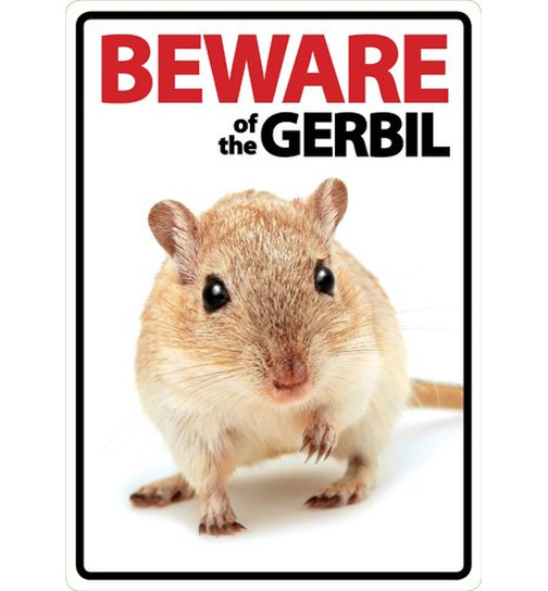 Beware of the Gerbil - Flexi Portrait - Magnet & Steel