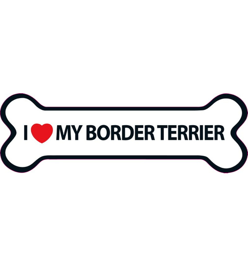 I Love My Border Terrier Magnet Knochen