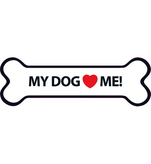 My Dog Loves Me Magnet Knochen