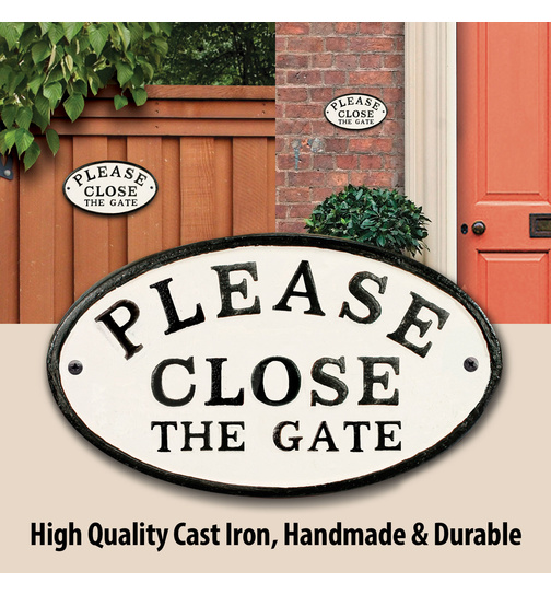 Please Close the Gate - Gusseisen Oval