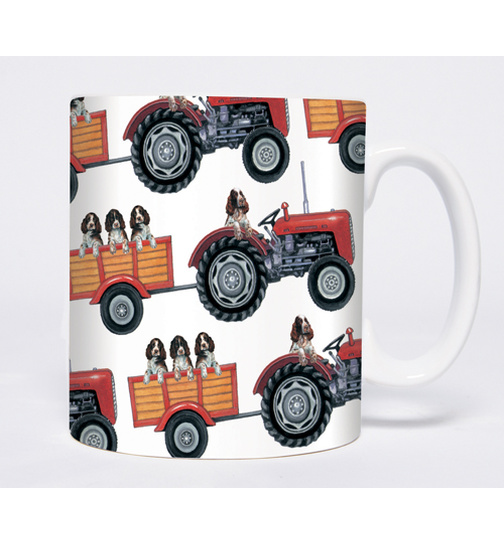 English Springer Spaniels - On the Farm - Mugs - Becher - Chopes