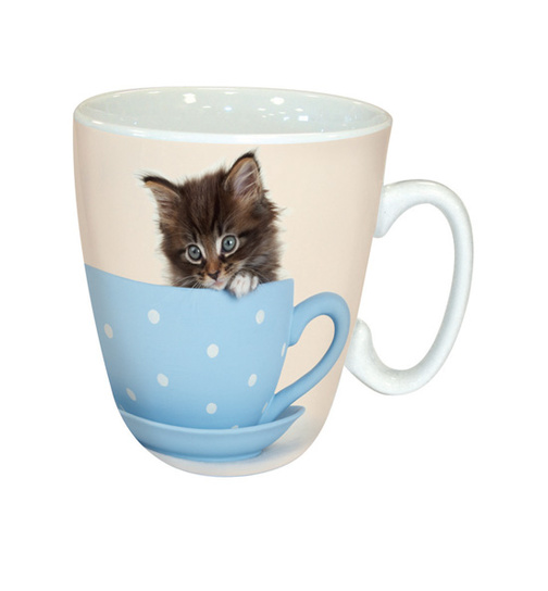 Kätzchen - Kitty in a Teacup - Kaffeebecher - Standard Mug