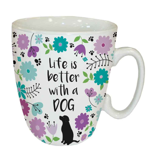 Life is better with a Dog - Standard Mug