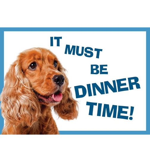 Cocker Spaniel - Dinner Time - Standard Futtermatte
