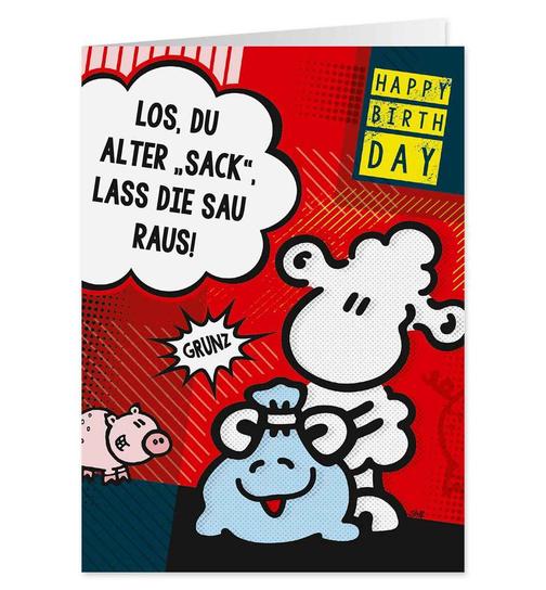 Alter Sack Happy Birthday Pop Art Karte Nr 40 Dog Toy De D