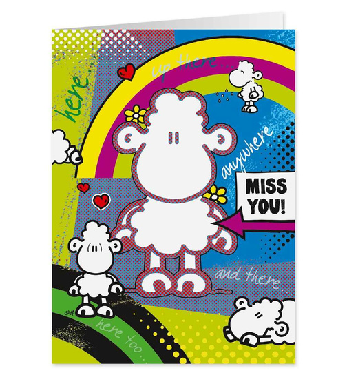 Miss You!- Pop Art Karte - Nr. 44