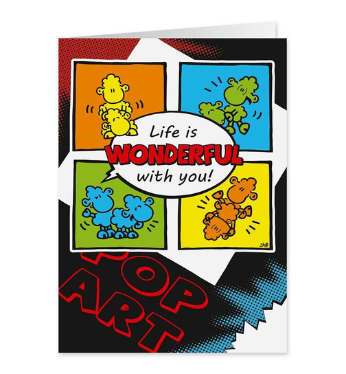 Life is wonderful with you! NICHT JUGENDFREI - Midi Pop Art Karte - Nr. 31