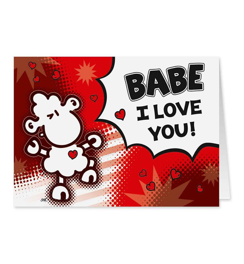 Babe I Love You! - Midi Pop Art Karte - Nr. 52
