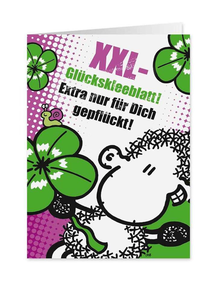 Xxl Glückskleeblatt Midi Pop Art Karte Nr 63 Dog Toyde Der