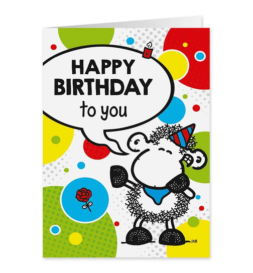 Happy Birthday to you - Midi Pop Art Karte - Nr. 65