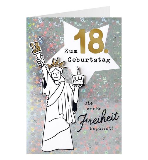 Geburtstagskarte fur 18