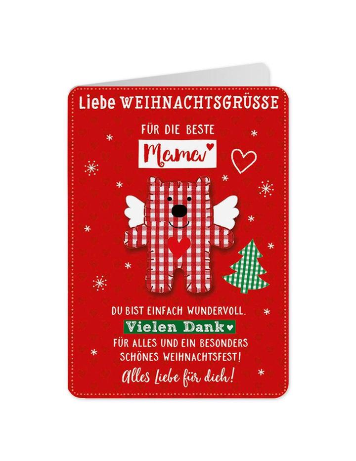 Weihnachtskarte Gute Wünsche Karte Für die beste Mama 29 - Dog-Toy.de