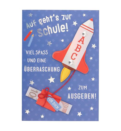 Abc Weihnachtskarten.Geldgeschenk Zur Einschulung Abc Rakete Dog Toy De Der Onlinesh