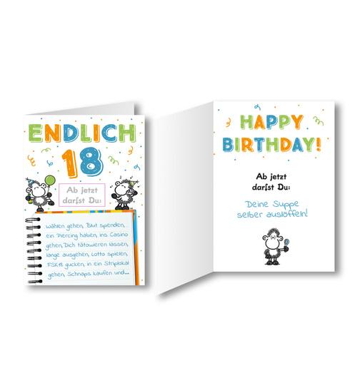 Geburtstagskarte Text 18.Geburtstagskarte Endlich 18 Ab Jetzt Darfst Du Dog