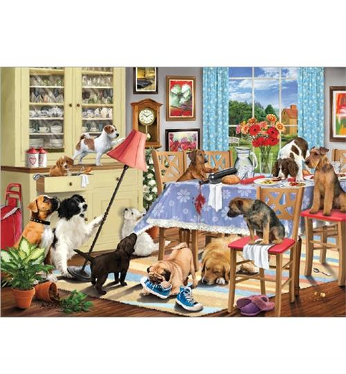 Dogs in the Dining Room - Puzzle 1000 Teile