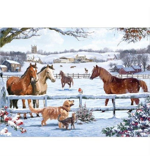 Christmas on the Farm - Puzzle 1000 Teile