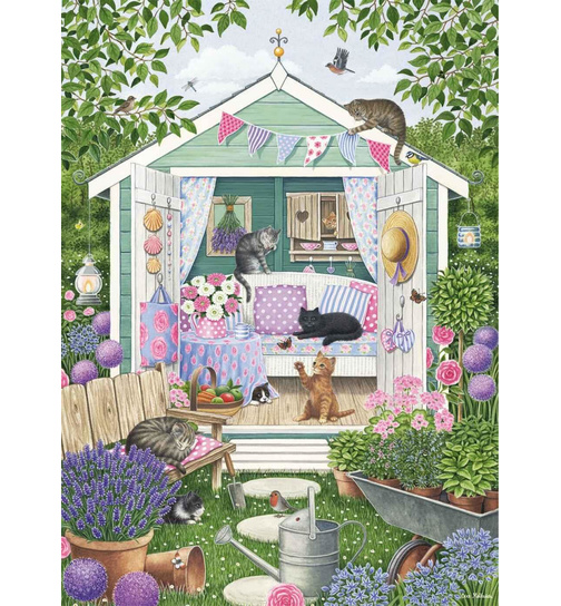 Summer Garden Cats - Puzzle 1000 Teile