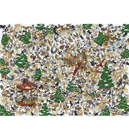 Find Freddy and Friends - Dogs -  Puzzle 1000 Teile