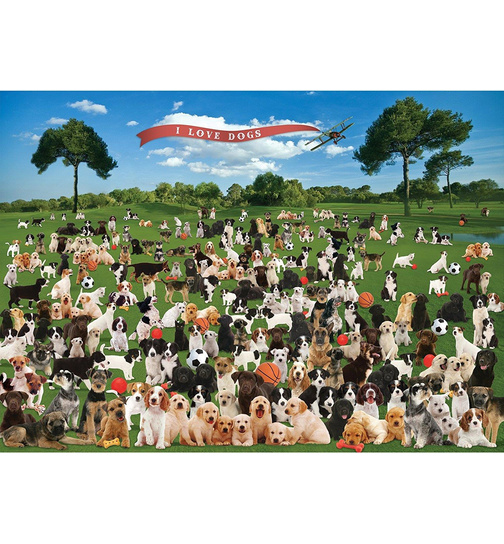 Summer Dogs - I love dogs - 1000 Teile Puzzle