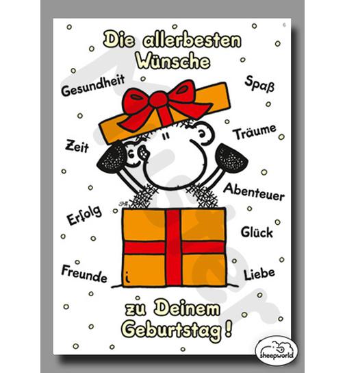 Geburtstag Karte.06 Geburtstagskarte Die Allerbesten Wunsche Postkarte