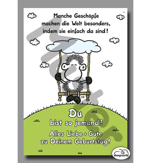 Geburtstagskarte Gesch/öpfe 44 Postkarte von Sheepworld